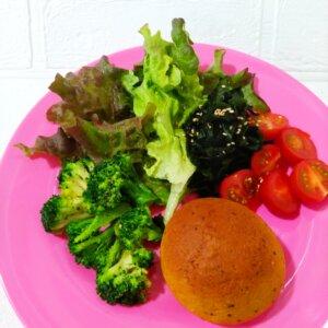 ベースブレッドカレー+サラダ