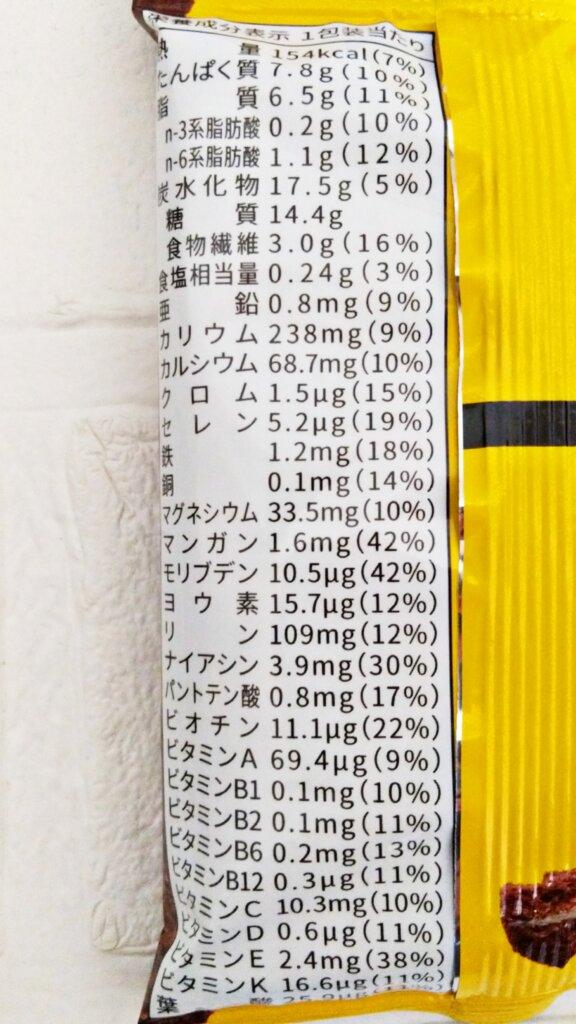 ベースクッキーココアの栄養成分