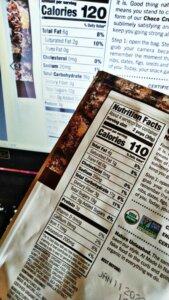 エナジバーチョコクランチの栄養成分
